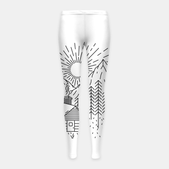 Thumbnail image of Home Sweet Home Girl's leggings, Live Heroes