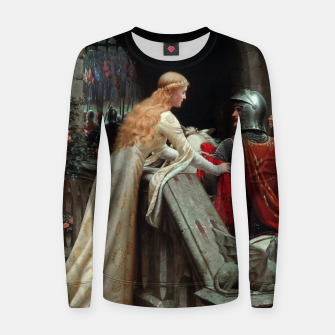 Miniaturka God Speed by Edmund Leighton Women sweater, Live Heroes