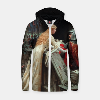 Miniaturka God Speed by Edmund Leighton Zip up hoodie, Live Heroes