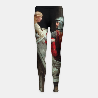 Miniaturka God Speed by Edmund Leighton Girl's leggings, Live Heroes
