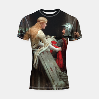 Miniaturka God Speed by Edmund Leighton Shortsleeve rashguard, Live Heroes