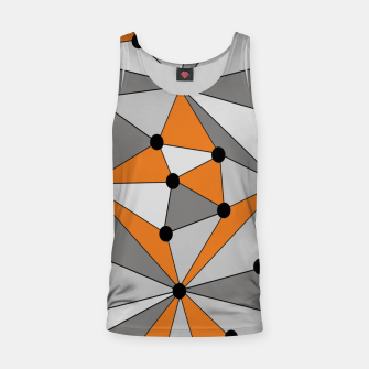 Miniaturka Abstract geometric pattern - orange and gray. Tank Top, Live Heroes