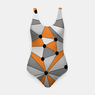 Thumbnail image of Abstract geometric pattern - orange and gray. Swimsuit, Live Heroes