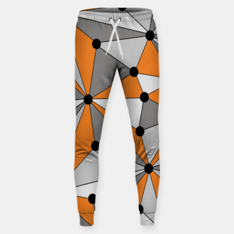 Miniatur Abstract geometric pattern - orange and gray. Sweatpants, Live Heroes