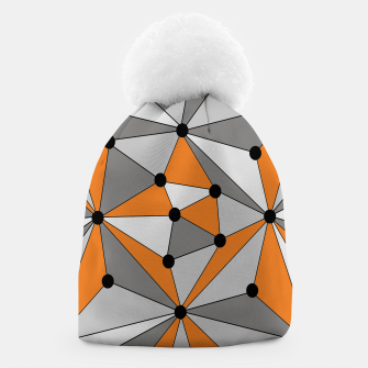 Thumbnail image of Abstract geometric pattern - orange and gray. Beanie, Live Heroes