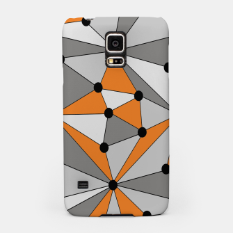 Thumbnail image of Abstract geometric pattern - orange and gray. Samsung Case, Live Heroes
