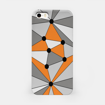 Miniatur Abstract geometric pattern - orange and gray. iPhone Case, Live Heroes