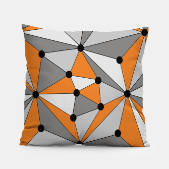 Thumbnail image of Abstract geometric pattern - orange and gray. Pillow, Live Heroes