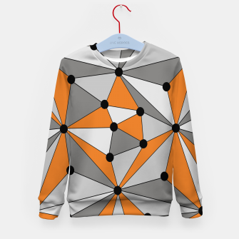 Thumbnail image of Abstract geometric pattern - orange and gray. Kid's sweater, Live Heroes