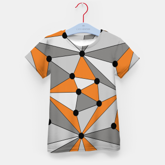 Thumbnail image of Abstract geometric pattern - orange and gray. Kid's t-shirt, Live Heroes