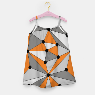 Thumbnail image of Abstract geometric pattern - orange and gray. Girl's dress, Live Heroes