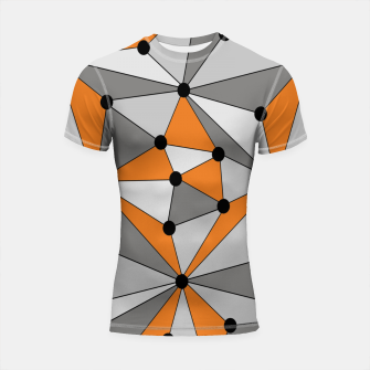 Miniatur Abstract geometric pattern - orange and gray. Shortsleeve rashguard, Live Heroes