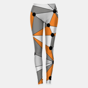 Thumbnail image of Abstract geometric pattern - orange and gray. Leggings, Live Heroes