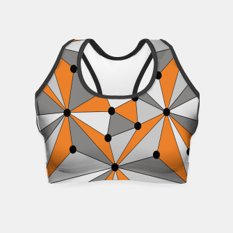 Thumbnail image of Abstract geometric pattern - orange and gray. Crop Top, Live Heroes