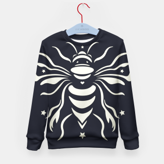 Thumbnail image of Bee black by #Bizzartino Kid's sweater, Live Heroes