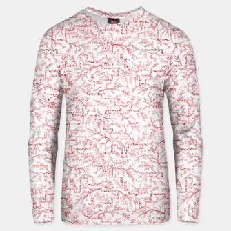 Miniatur Sakura bloom on a snowy morning Unisex sweater, Live Heroes