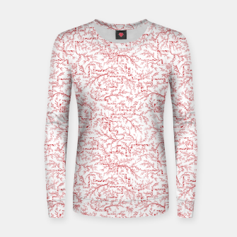 Thumbnail image of Sakura bloom on a snowy morning Women sweater, Live Heroes
