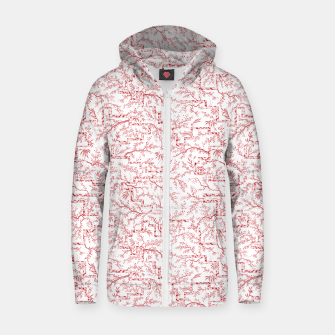 Miniatur Sakura bloom on a snowy morning Zip up hoodie, Live Heroes