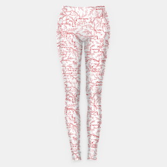 Thumbnail image of Sakura bloom on a snowy morning Leggings, Live Heroes