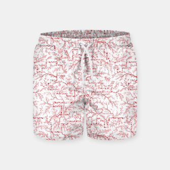 Miniatur Sakura bloom on a snowy morning Swim Shorts, Live Heroes