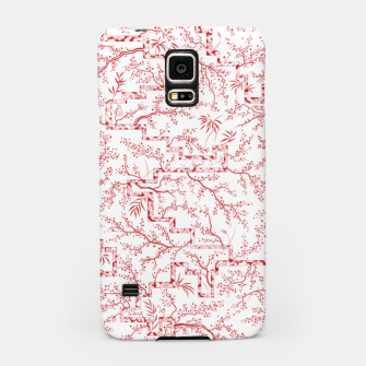 Miniatur Sakura bloom on a snowy morning Samsung Case, Live Heroes