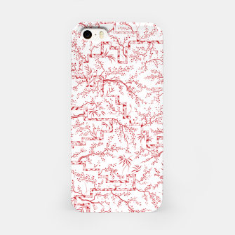 Miniatur Sakura bloom on a snowy morning iPhone Case, Live Heroes