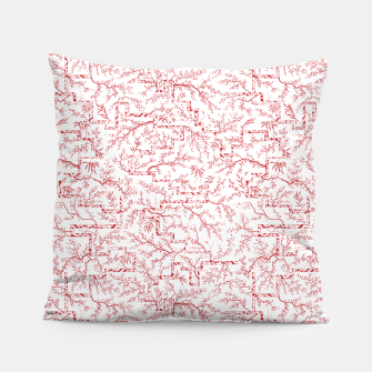 Miniatur Sakura bloom on a snowy morning Pillow, Live Heroes