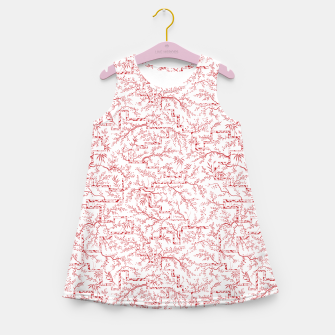 Miniatur Sakura bloom on a snowy morning Girl's summer dress, Live Heroes