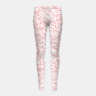 Miniatur Sakura bloom on a snowy morning Girl's leggings, Live Heroes