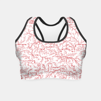 Miniatur Sakura bloom on a snowy morning Crop Top, Live Heroes
