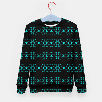 Thumbnail image of Neon Stripes Ethnic Geometric Pattern Kid's sweater, Live Heroes