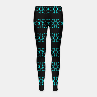 Thumbnail image of Neon Stripes Ethnic Geometric Pattern Girl's leggings, Live Heroes