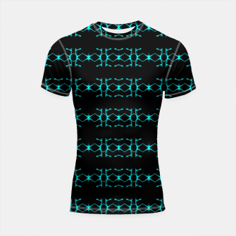 Thumbnail image of Neon Stripes Ethnic Geometric Pattern Shortsleeve rashguard, Live Heroes
