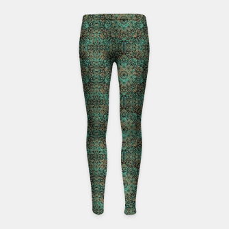 Imagen en miniatura de Copper Patina Kaleidoscope Girl's leggings, Live Heroes
