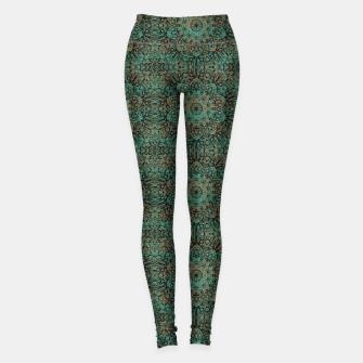 Thumbnail image of Copper Patina Kaleidoscope Leggings, Live Heroes