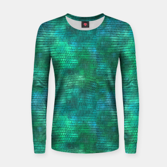 Thumbnail image of Blue Green Dragon Scales Women sweater, Live Heroes