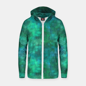 Thumbnail image of Blue Green Dragon Scales Zip up hoodie, Live Heroes
