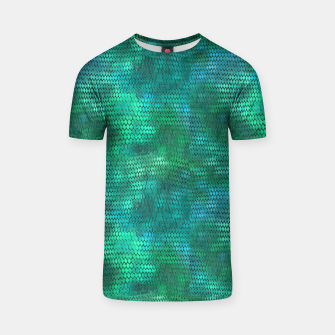 Thumbnail image of Blue Green Dragon Scales T-shirt, Live Heroes