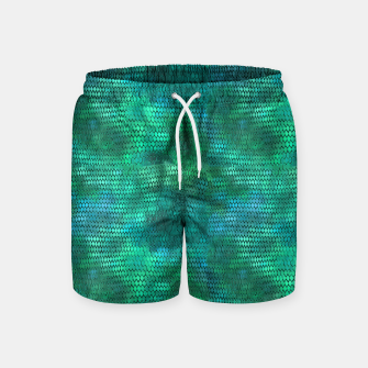 Thumbnail image of Blue Green Dragon Scales Swim Shorts, Live Heroes