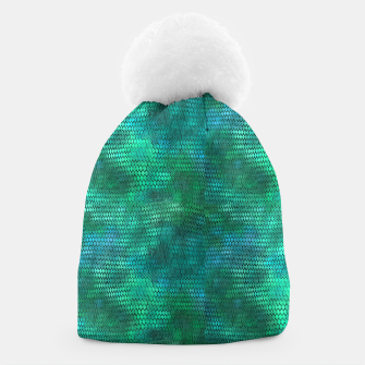 Thumbnail image of Blue Green Dragon Scales Beanie, Live Heroes