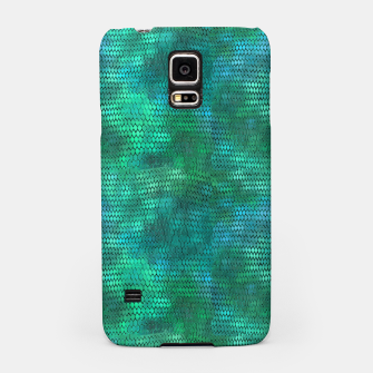 Miniatur Blue Green Dragon Scales Samsung Case, Live Heroes