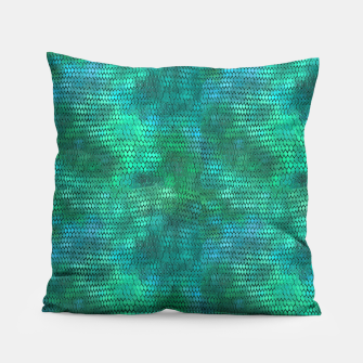 Miniaturka Blue Green Dragon Scales Pillow, Live Heroes