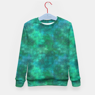 Miniatur Blue Green Dragon Scales Kid's sweater, Live Heroes