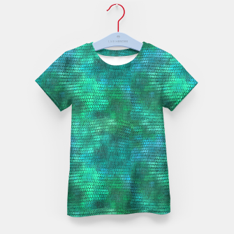 Thumbnail image of Blue Green Dragon Scales Kid's t-shirt, Live Heroes