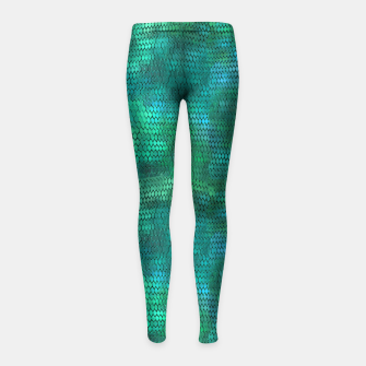 Imagen en miniatura de Blue Green Dragon Scales Girl's leggings, Live Heroes