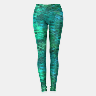 Thumbnail image of Blue Green Dragon Scales Leggings, Live Heroes
