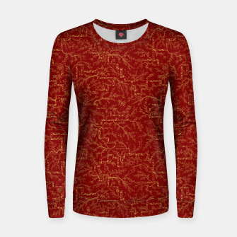 Miniatur Sakura bloom at golden red sunset Women sweater, Live Heroes