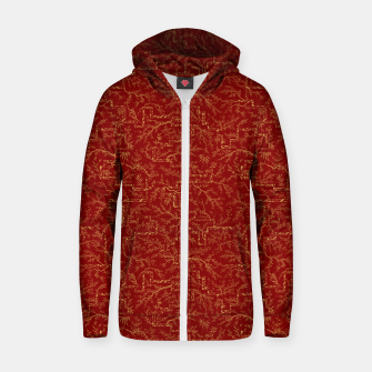 Miniatur Sakura bloom at golden red sunset Zip up hoodie, Live Heroes