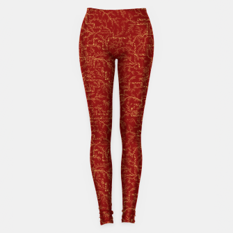 Miniatur Sakura bloom at golden red sunset Leggings, Live Heroes