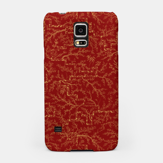 Miniatur Sakura bloom at golden red sunset Samsung Case, Live Heroes